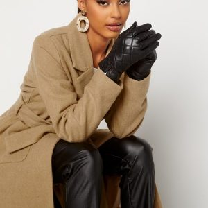BUBBLEROOM Velma quilted leather gloves Black M