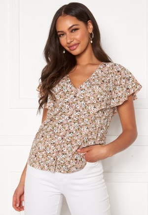 Happy Holly Fiona blouse Light pink / Patterned 32/34