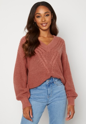 OBJECT Birgitha L/S Knit Withered Rose S