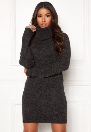 OBJECT Nonsia rib L/S rollneck dress Dark Grey Melange S