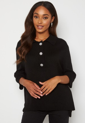 ONLY Paloma 2/4 Polo Pullover Black XS
