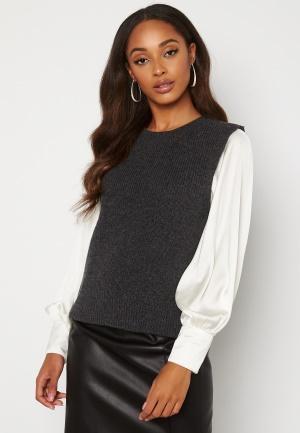 ONLY Paris Life Vest Knit Dark Grey Melange XS