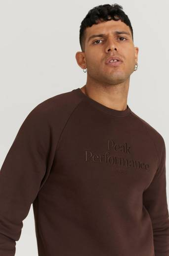 Peak Performance Sweatshirt M Original Crew Brun