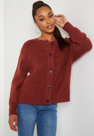 SELECTED FEMME Lulu LS knit short cardigan Chili Oil S