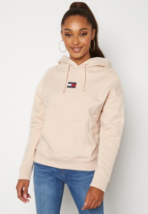 TOMMY JEANS Center Badge Hoodie ABI Smooth Stone XS