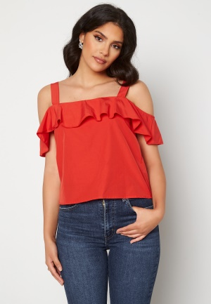 Trendyol Flounce Blouse Red 40