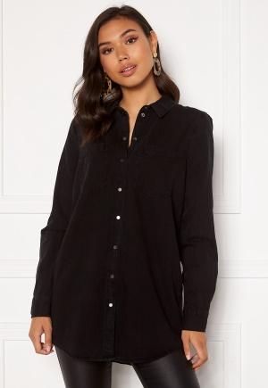 VERO MODA Mila LS Long Shirt Black M