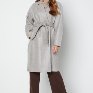 VERO MODA Fortune Long Jacket Light Grey XL