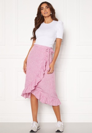 VERO MODA Henna Wrap Blk Skirt Smoky Grape/ Dots M