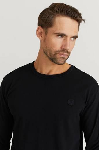 Wood Wood Långärmad T-shirt Mel Long Sleeve Svart